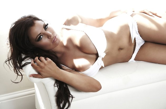 Jess Wright in her underwear range