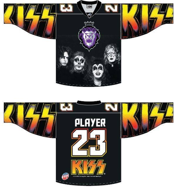 KISS jersey photo provided by Reading Royals.