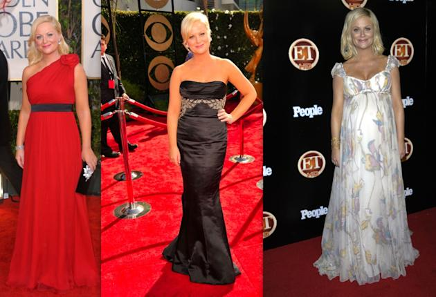Amy Poehler's empire waist gowns