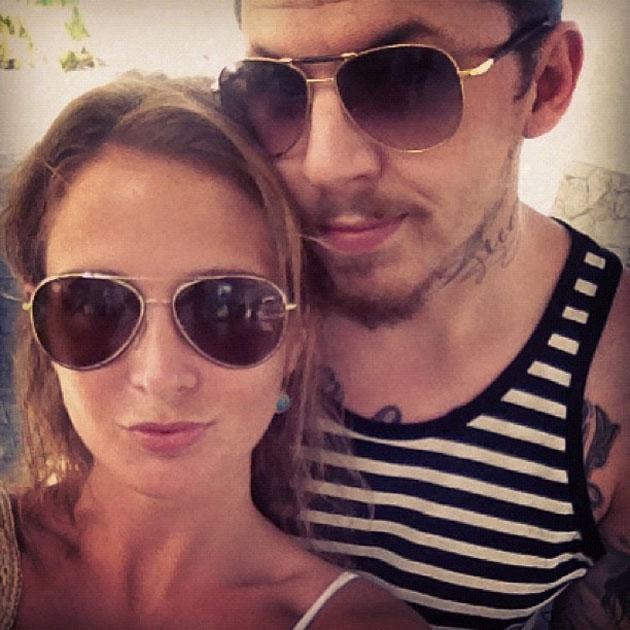 Celebrity Twitpics: Made in Chelsea star Millie Mackintosh and boyfriend Professor Green are currently on holiday, with Millie tweeting regular updates to her followers, including this cute snap of th