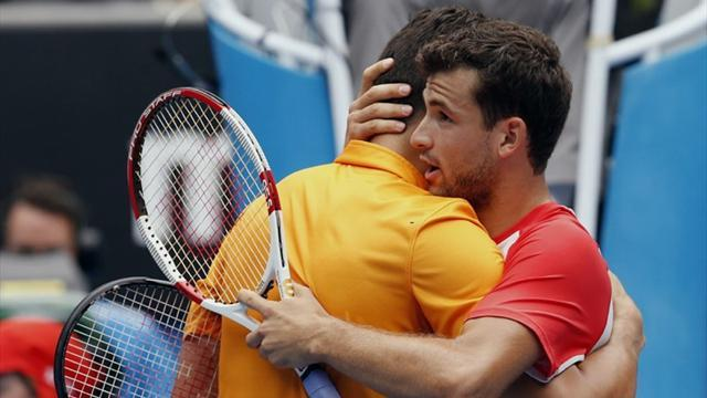 Australian Open - Dimitrov bounces out Raonic at Melbourne Park