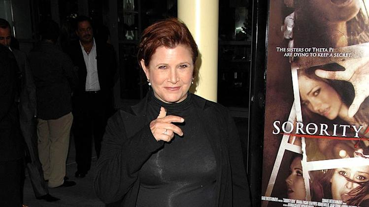 Carrie Fisher Sorority Row Premiere