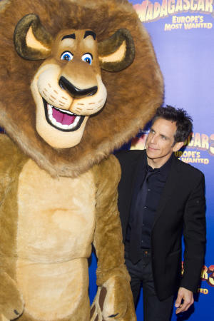 "Ben Stiller attends the premiere of ""Madagascar 3: Europe's Most Wanted"" on Thursday, June 7, 2012 in New York. (Photo by Charles Sykes/Invision/AP)"