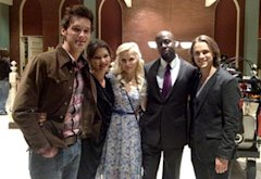 Wyclef Jean and the cast of Nashville   Photo Credits: Wyclef Jean/Twitter