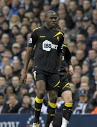 "Bolton Wanderers midfielder Fabrice Muamba in action during their English FA Cup quarter-final football match against Tottenham Hotspur at White Hart Lane in north London. Muamba was ""critically ill"" in hospital on Saturday after collapsing suddenly during his team's abandoned FA Cup quarter-final with Tottenham"