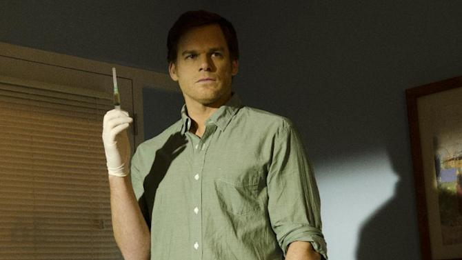 """This undated publicity image released by Showtime shows Michael C. Hall as Dexter Morgan in a scene from the final season of """"Dexter,"""" airing Sundays at 9 p.m. EST on Showtime. (AP Photo/Showtime, Randy Tepper)"""
