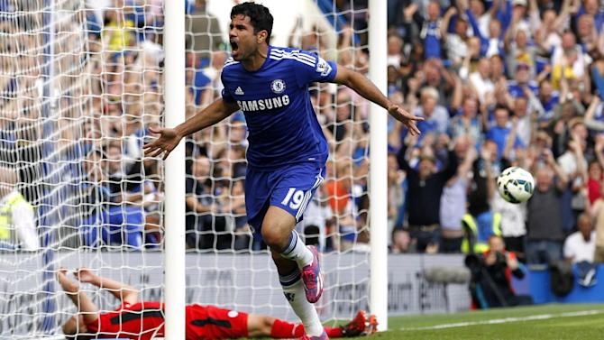 Premier League - Costa scores on home debut as Chelsea overpower gallant Leicester