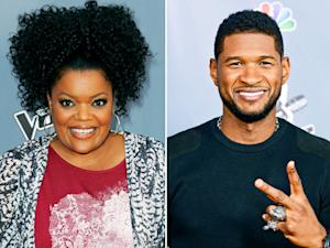 Yvette Nicole Brown Stalks Usher at The Voice Season 4 Premiere Party
