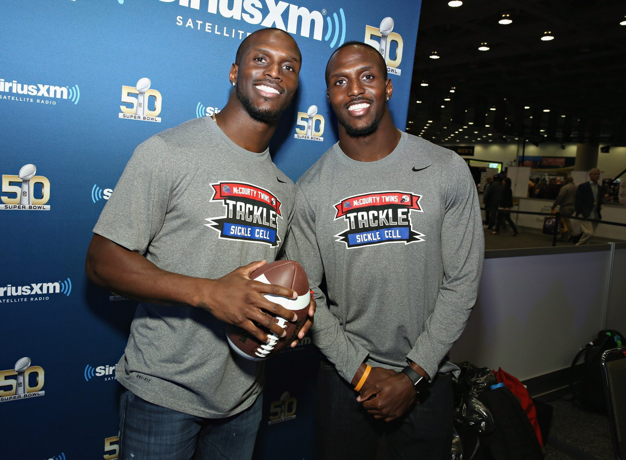 Jason, left, and Devin McCourty will promote their Tackle Sickle Cell foundation. (Getty Images)