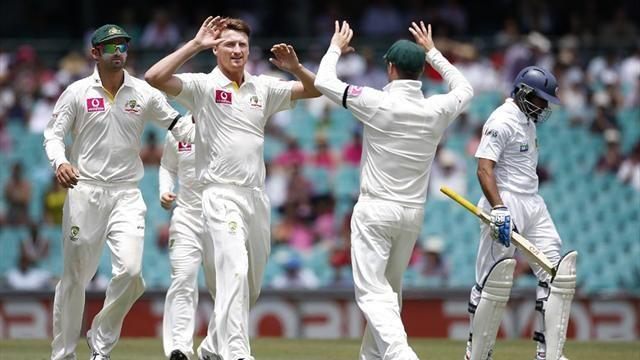 Cricket - Australia bowl Sri Lanka out on opening day in Sydney