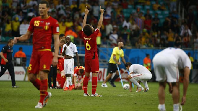 World Cup - Belgium knock out USA in extra-time thriller