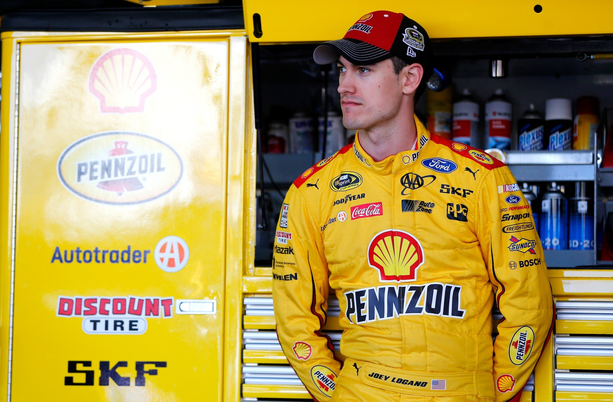 Joey Logano is tied for the points lead in the third round. (Getty)