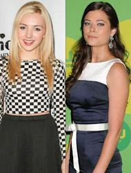 'Jessie' star Peyton List (L) and 'The Tomorrow People' star Peyton List (R) -- Getty Images
