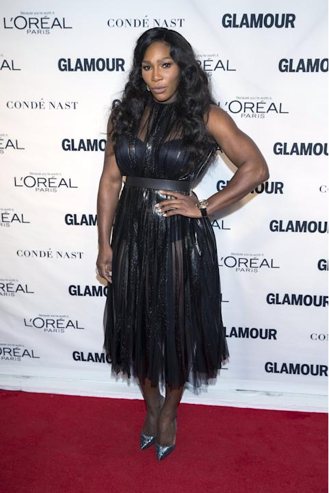 "Tennis player Serena Williams arrives for the ""Glamour Women of the Year Awards"" in the Manhattan borough of New York"
