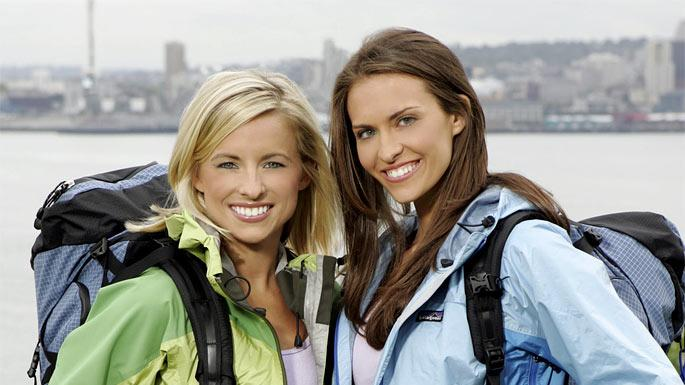 Teammates Kellie and Jamie (left to right) are best friends from Columbia, SC. who are competing in The Amazing Race 10 on CBS.