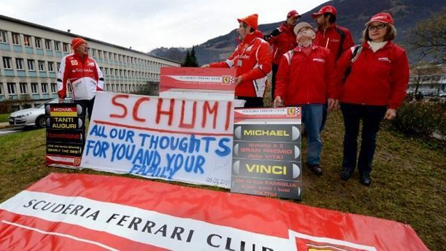 Formula 1 - Ferrari fans hold hospital vigil on Schumacher's birthday