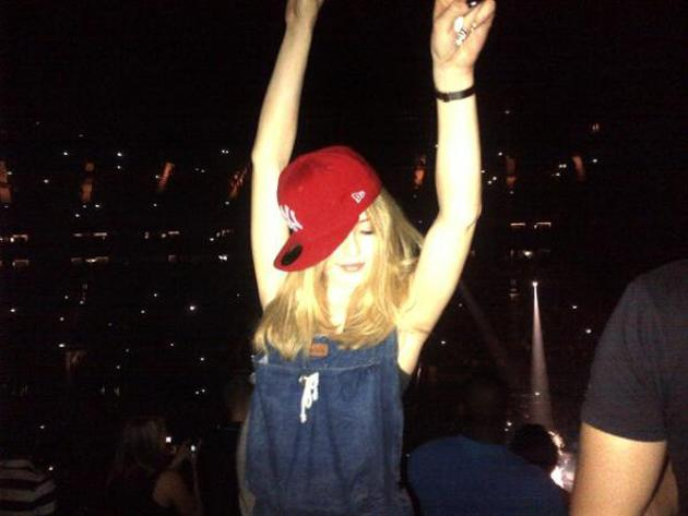 Celebrity photos: Girls Aloud's Nicola Roberts is known for enjoying a party or two, and this week she tweeted a photo of her truly letting her hair down – and even stealing a friend's hat!