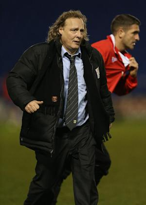 Owner Pete Winkleman, left, is pleased with the current state of his MK Dons side