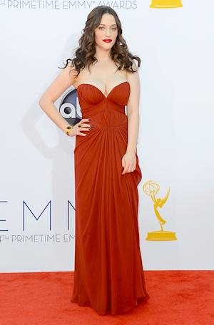 Kat Dennings Worries About Wardrobe Malfunction at 2012 Emmy Awards