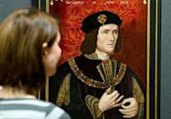 A painting of England's King Richard III by an unknown artist is displayed in the National Portrait Gallery in central London on January 25, 2013