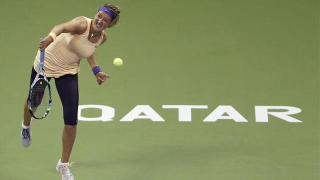 Tennis - Azarenka still unbeaten after easing through in Qatar