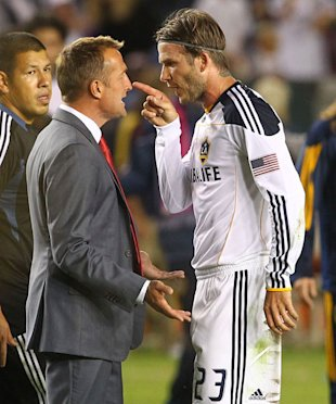 David Beckham Argues With Coach