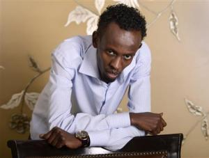 """Somali actor Barkhad Abdi poses for a portrait during a media publicity event for the film """"Captain Phillips"""" in Los Angeles in this file photo"""