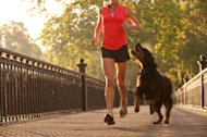 Exercise with your dog, so you will both be happy and healthy.