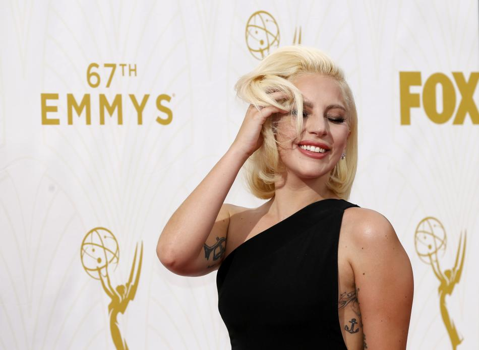 Singer Lady Gaga arrives at the 67th Primetime Emmy Awards in Los Angeles