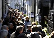 People line to visit the Duarte's Family vault where rest the remains of Eva Duarte de Peron on the 60th anniversary of her death in Buenos Aires. Argentinians, including President Cristina Kirchner, pay tribute to Eva Peron Thursday on the 60th anniversary of the national icon's premature death
