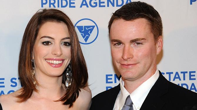 Anne Hathaway and her brother