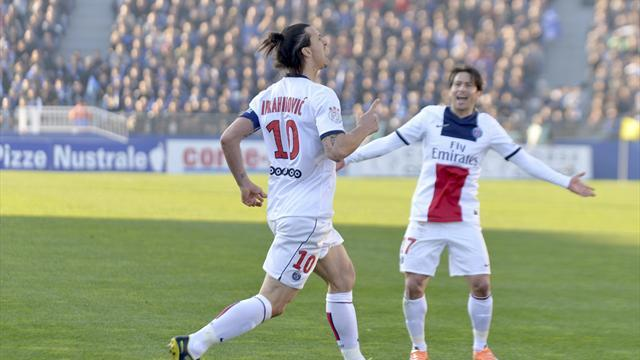Ligue 1 - Ibrahimovic shines again as PSG move 11 points clear