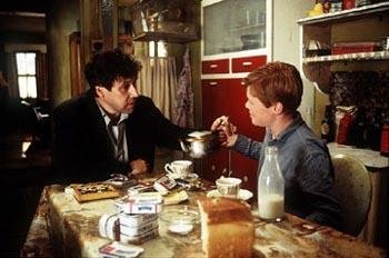 Stephen Rea and Eamonn Owens in Warner Brothers' The Butcher Boy