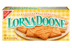 Lorna Doone was never a real person; the cookies are named after the titular character in a famous book from 1869.
