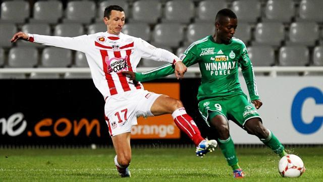 Ligue 1 - Saint-Etienne miss out on top spot after Ajaccio draw