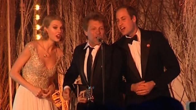Prince William sings with Bon Jovi and Taylor Swift