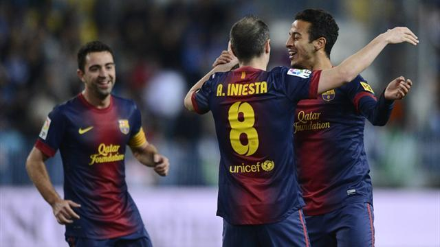 Spanish Liga - Brilliant Barcelona too good for Malaga
