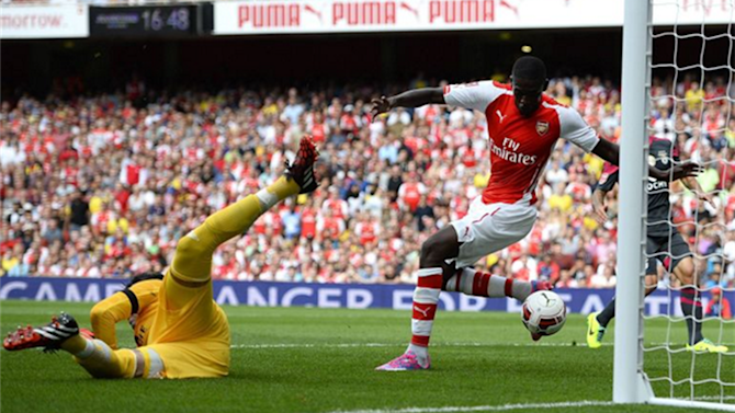 Friendly match - Sanogo hits four as Arsenal bare teeth against Benfica