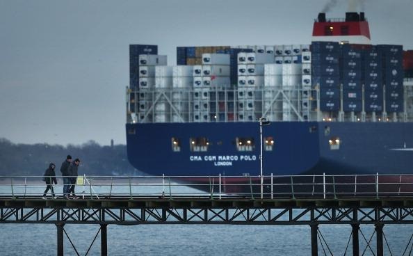 The Worlds Biggest Container Ship Leaves Southampton