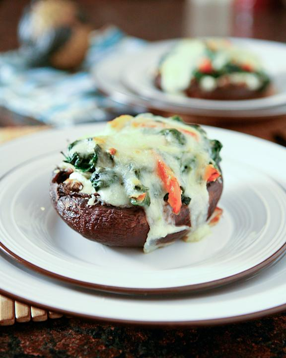 Spinach and Ricotta Portobello Mushrooms