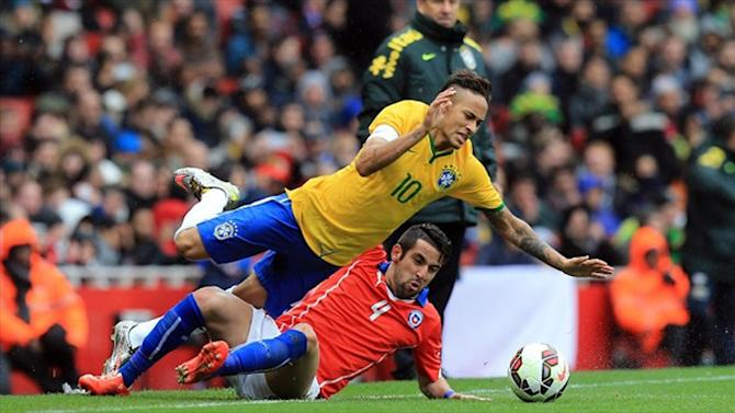 International friendlies - Brazil coach Dunga hits out at referee Martin Atkinson after win over Chile