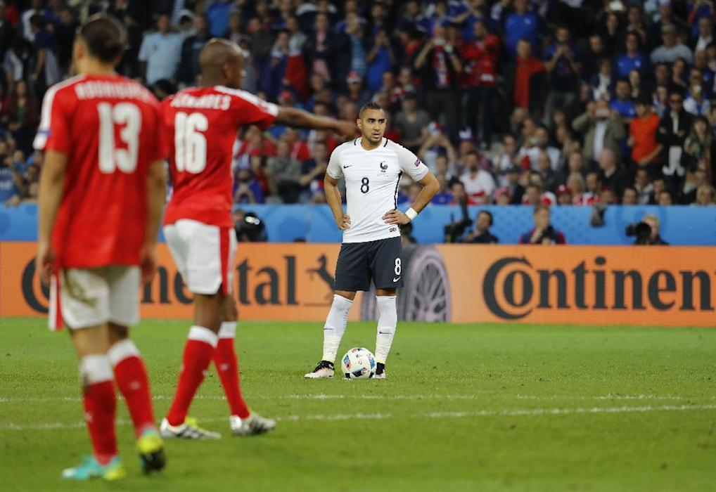 France's Dimitri Payet prepares to take a free kick