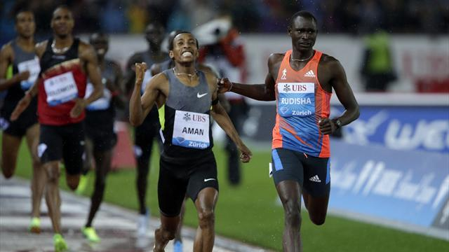 Rudisha in shock loss, Bolt and Blake win in wet Zurich