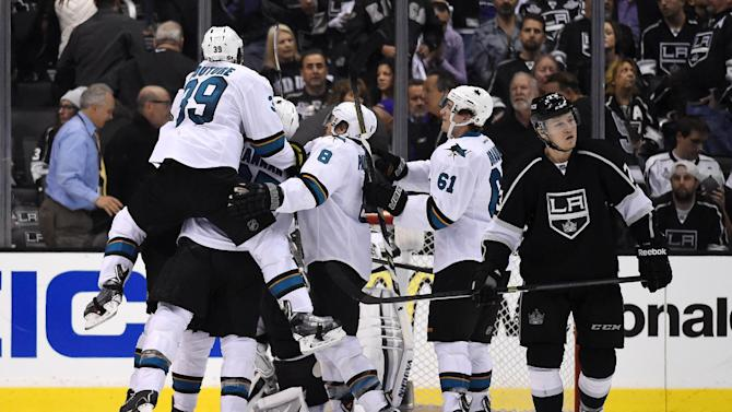 Sharks beat Kings 4-3 in OT, take 3-0 series lead