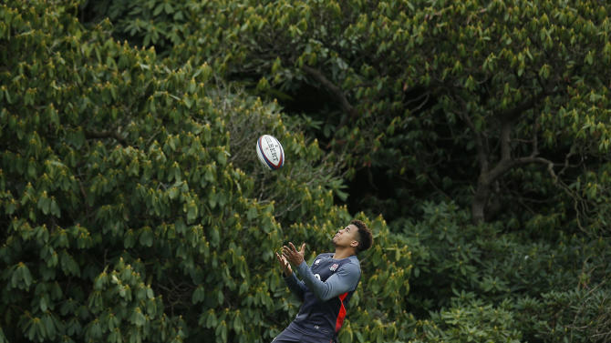 England's Anthony Watson during training