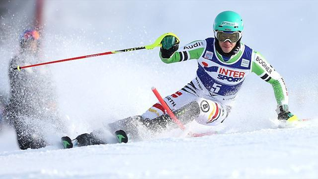 Alpine Skiing - Neureuther claims first GS World Cup win in Adelboden