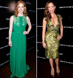 Who Looked Hotter in Green: Jessica Chastain or Rose McGowan?