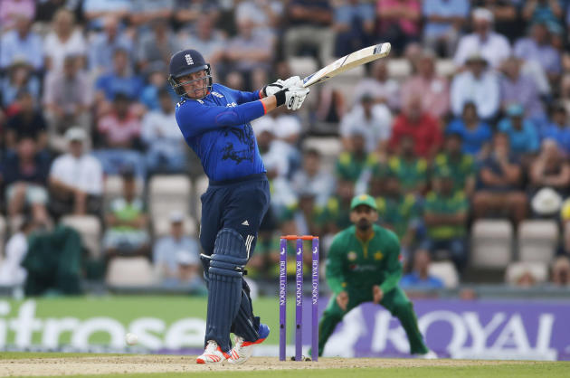 England's Jason Roy in action