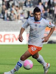 Montpellier's midfielder Younes Belhanda controls the ball during the French L1 football match Toulouse vs Montpellier, on April 27, at the Stadium Municipal in Toulouse