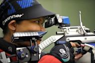 Malaysia's Nur Suryani Mohamad Taibi attends a practice session at the Subang Jaya shooting field on the outskirts of Kuala Lumpur on July 19. Malaysia's shooting team leader Thursday said she had no concerns about Nur Suryani, just days before the heavily pregnant markswoman sets her sights on Olympic glory